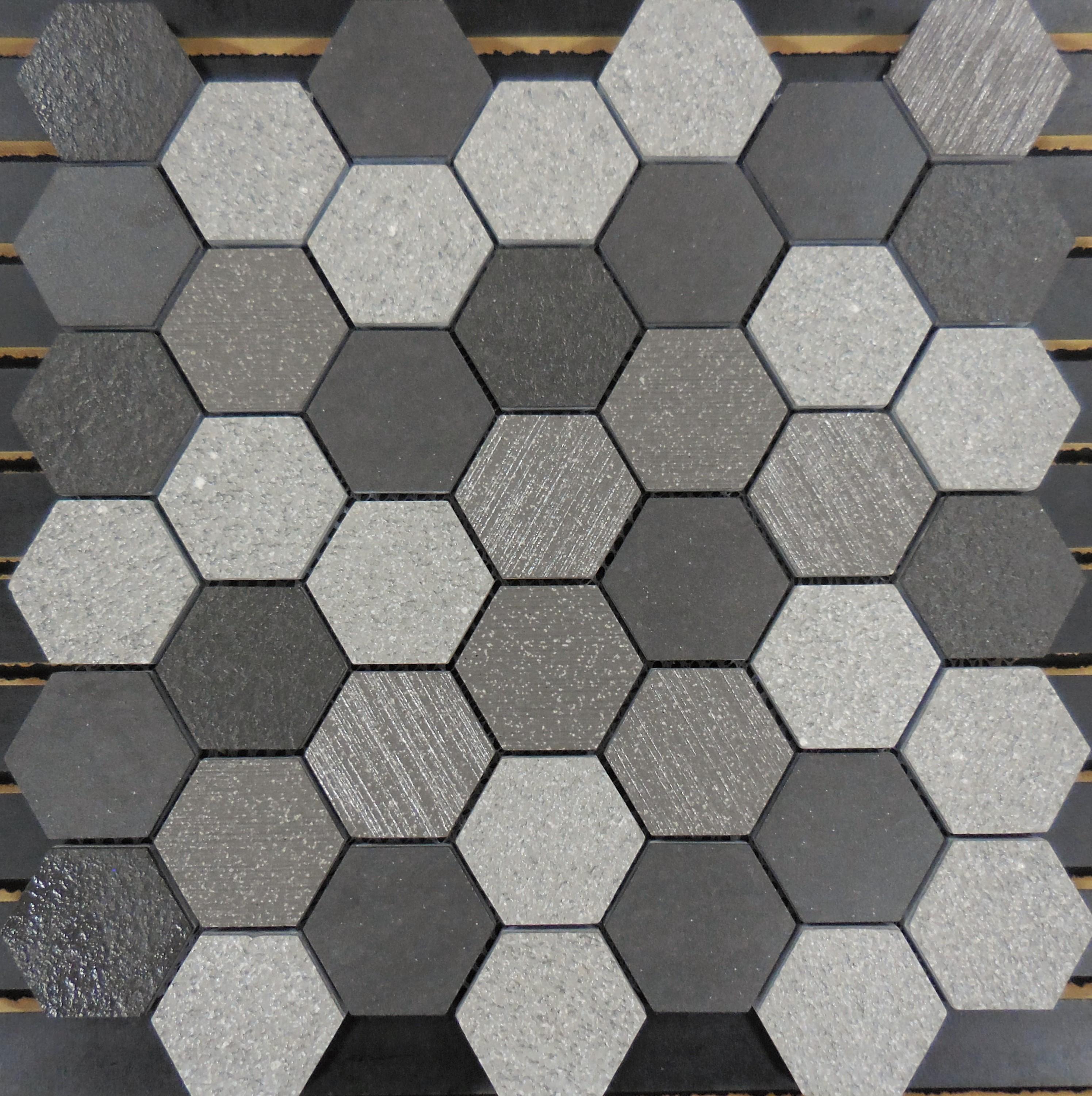 Pth2017 Porcelain Mosaic Grey 2 Hexagon