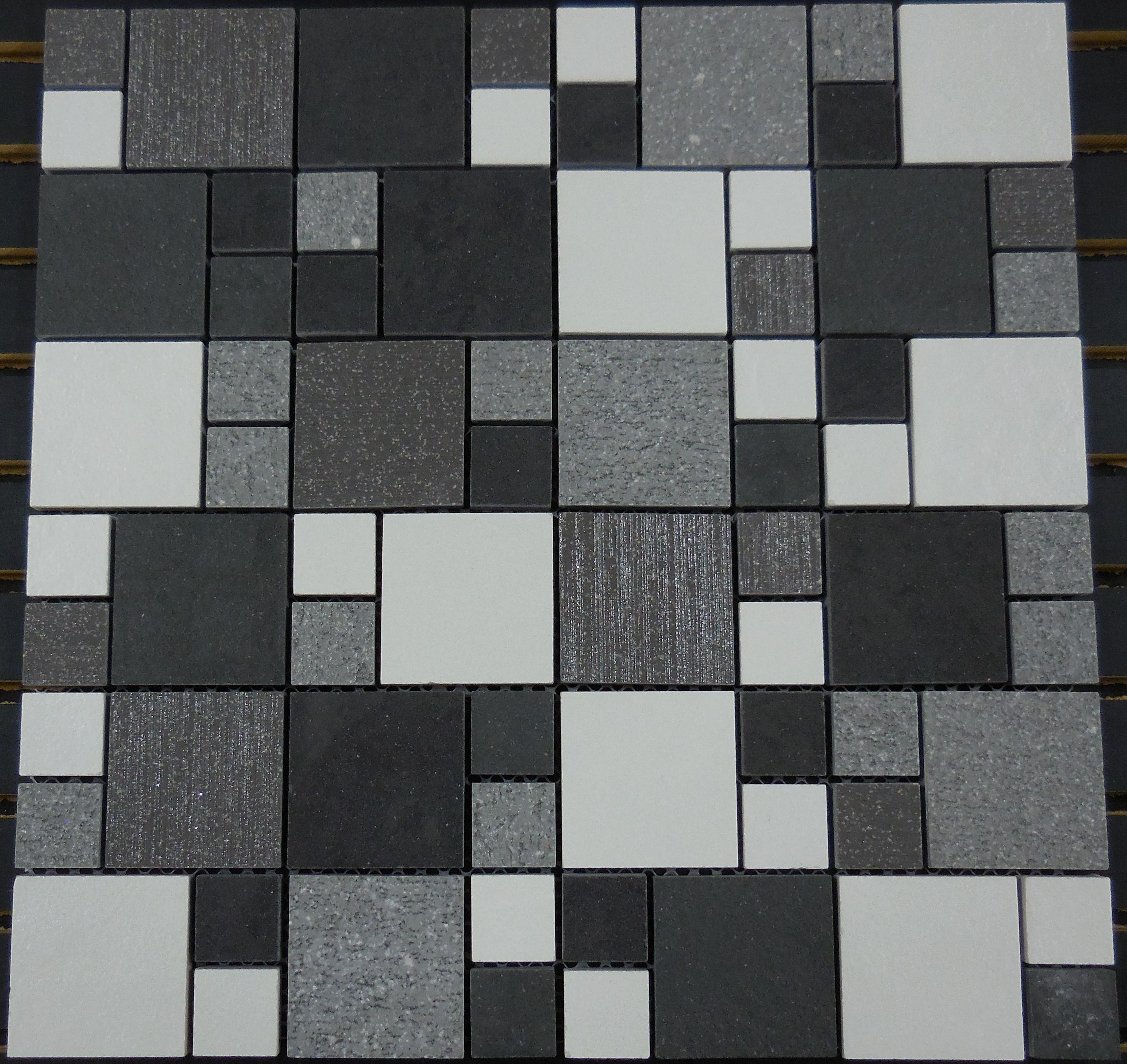 Ptm7037 Porcelain Mosaic Salt N Pepper Versailles