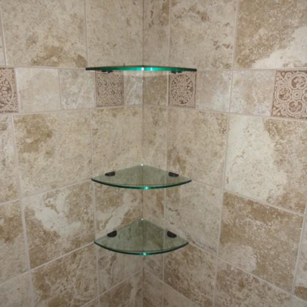Gl Corner Shelves 10 Inch Quarter Round Tile And Stone