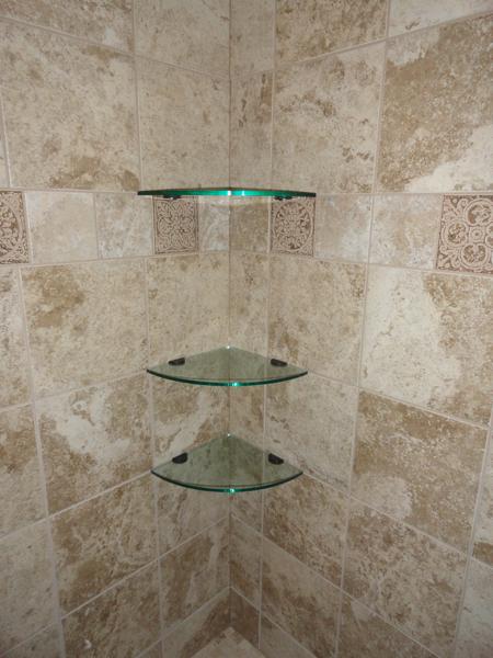 Glass Corner Shelves 10 Inch Quarter Round Glass Tile